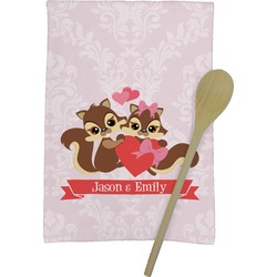 Chipmunk Couple Kitchen Towel - Full Print (Personalized)