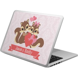 Chipmunk Couple Laptop Skin - Custom Sized (Personalized)