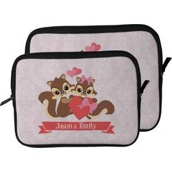 Chipmunk Couple Laptop Sleeve / Case (Personalized)