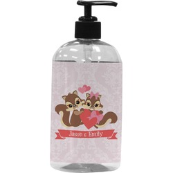 Chipmunk Couple Plastic Soap / Lotion Dispenser (Personalized)
