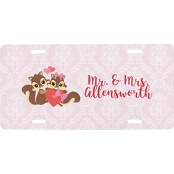 Chipmunk Couple Front License Plate (Personalized)
