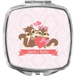 Chipmunk Couple Compact Makeup Mirror (Personalized)