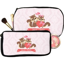 Chipmunk Couple Makeup / Cosmetic Bag (Personalized)