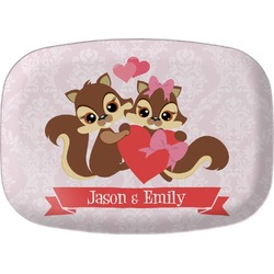 Chipmunk Couple Melamine Platter (Personalized)
