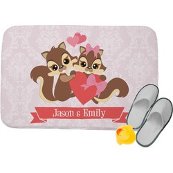 Chipmunk Couple Memory Foam Bath Mat (Personalized)