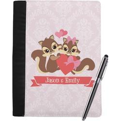 Chipmunk Couple Notebook Padfolio (Personalized)