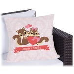 Chipmunk Couple Outdoor Pillow (Personalized)