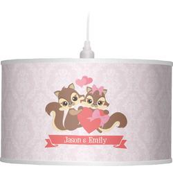 Chipmunk Couple Drum Pendant Lamp (Personalized)