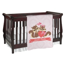 Chipmunk Couple Baby Blanket (Personalized)