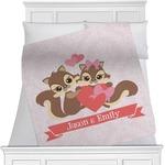 Chipmunk Couple Minky Blanket (Personalized)