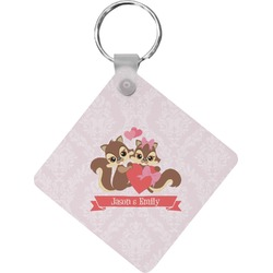 Chipmunk Couple Diamond Key Chain (Personalized)