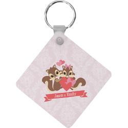 Chipmunk Couple Diamond Key Chain (Personalized)