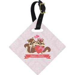 Chipmunk Couple Diamond Luggage Tag (Personalized)