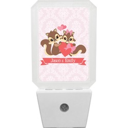 Chipmunk Couple Night Light (Personalized)