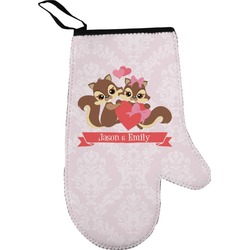Chipmunk Couple Oven Mitt (Personalized)