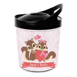 Chipmunk Couple Plastic Ice Bucket (Personalized)