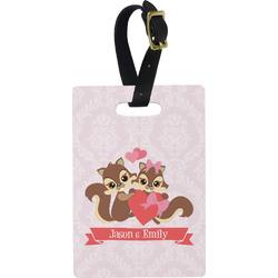 Chipmunk Couple Rectangular Luggage Tag (Personalized)