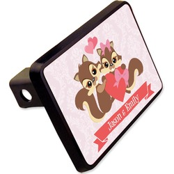 "Chipmunk Couple Rectangular Trailer Hitch Cover - 2"" (Personalized)"