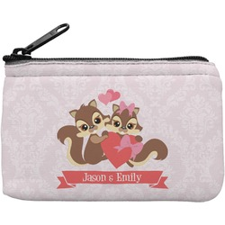 Chipmunk Couple Rectangular Coin Purse (Personalized)
