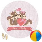 Chipmunk Couple Round Beach Towel (Personalized)