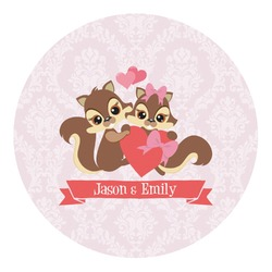 Chipmunk Couple Round Decal (Personalized)