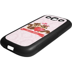 Chipmunk Couple Rubber Samsung Galaxy 3 Phone Case (Personalized)