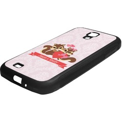 Chipmunk Couple Rubber Samsung Galaxy 4 Phone Case (Personalized)
