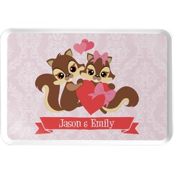 Chipmunk Couple Serving Tray (Personalized)