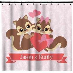 Chipmunk Couple Shower Curtain (Personalized)