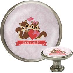 Chipmunk Couple Cabinet Knob (Silver) (Personalized)