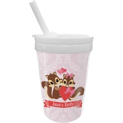 Chipmunk Couple Sippy Cup with Straw (Personalized)