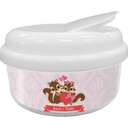 Chipmunk Couple Snack Container (Personalized)