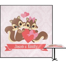 Chipmunk Couple Square Table Top (Personalized)