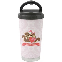 Chipmunk Couple Stainless Steel Coffee Tumbler (Personalized)
