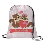 Chipmunk Couple Drawstring Backpack (Personalized)
