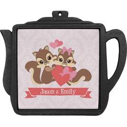 Chipmunk Couple Teapot Trivet (Personalized)