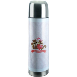 Chipmunk Couple Stainless Steel Thermos (Personalized)