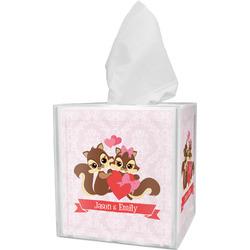 Chipmunk Couple Tissue Box Cover (Personalized)
