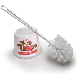 Chipmunk Couple Toilet Brush (Personalized)