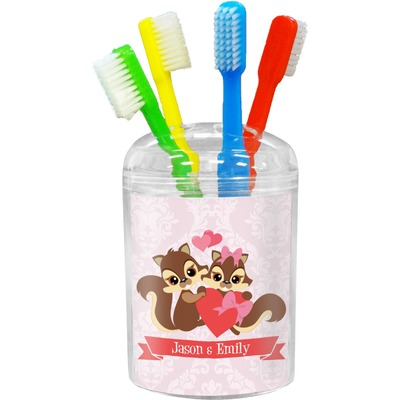 Chipmunk Couple Toothbrush Holder (Personalized)