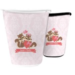 Chipmunk Couple Waste Basket (Personalized)