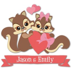 Chipmunk Couple Graphic Decal - Custom Sizes (Personalized)