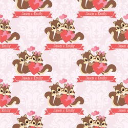 Chipmunk Couple Wallpaper & Surface Covering