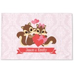 Chipmunk Couple Woven Mat (Personalized)