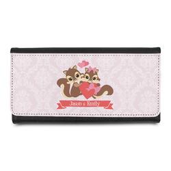 Chipmunk Couple Leatherette Ladies Wallet (Personalized)