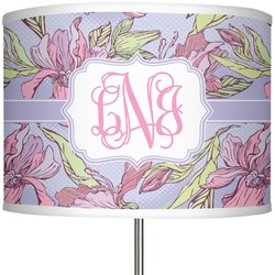 """Orchids 13"""" Drum Lamp Shade (Personalized)"""