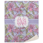 Orchids Sherpa Throw Blanket (Personalized)