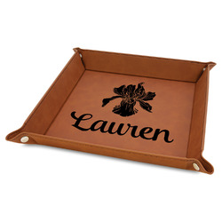 Orchids Faux Leather Valet Tray (Personalized)