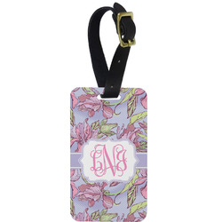 Orchids Aluminum Luggage Tag (Personalized)