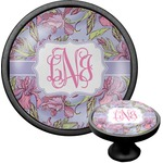 Orchids Cabinet Knob (Black) (Personalized)